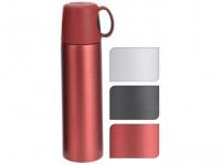 termoska 0,5l nerez, plastové viečko s uchom - mix farieb