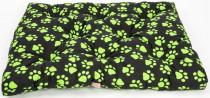 Matrace bavl. Memory Tlapa černo/zelená 80 x 60 x 10 cm