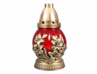 Sviečka sklo Kvet červená - 60 g (58CS3426)