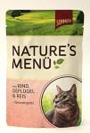 Schmusy Cat Nature Menu vrecko hovädzie + hydina 100g
