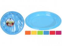 tanier 22cm plastový (30ks) jednorazový - mix farieb