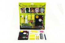 Farby tvárové s doplnkami na karte karneval