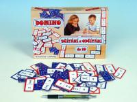 Domino sčítanie a odčítanie do 10 spoločenská hra