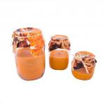 svíčka ve skle vonná pomeranč a skořice 140g (hoří 24-30 hod)