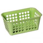 košík velký 15,5x24x10,5cm (srdíčka) plastový - mix barev