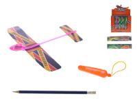 Letadlo skládací 20 cm vystřelovací na baterie se světlem