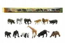 Zvieratká safari ZOO plast 6cm 12ks v tube