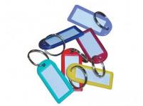visačka na kľúče 6,0 cm plastová, veľká s rozdeľ. (50ks) - mix farieb