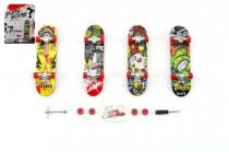 Skateboard prstový skrutkovacie plast 10cm s doplnkami - mix variantov či farieb