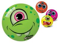 Lopta Monster 23 cm s bláznivým tvárou - mix variantov či farieb