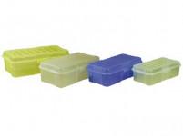 box s klick uzáverom 20x10x 6cm (0,8l) plastový - mix farieb