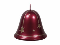 Sviečka CHRISTMAS STARS ZVONEK vianočné metalická d8,5x8cm