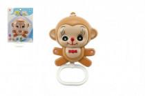 Hrací strojček naťahovací opička plast 12cm