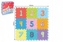 Penové puzzle číslica 9ks 32x32cm 10m +