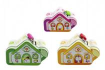 Pokladnička domček plech 9cm - mix variantov či farieb