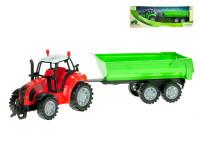 Traktor s vlečkou 34 cm na zotrvačník - mix farieb