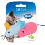 Hračka cat textil Myš mix farieb dôvo + 2 ks, 6 x 5 x 3 cm