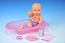 Miminko/panenka špinavé pevné tělo s doplňky plast 30cm