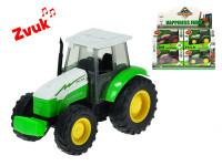 Traktor kov 14 cm 1:32 na zotrvačník na batérie so zvukom - mix variantov či farieb