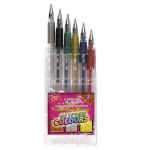 Glitter gélové pero - mix farieb - 6ks / sada