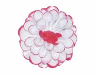 Květ JIŘINA umělý bílo červený 8cm