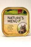 Schmusy Cat Nature Menu vanička kuře+losos 100g
