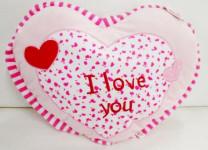 Srdce růžové polštářek plyš 45cm