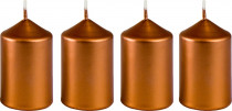 Sviečka adventné 40x60 mm - metalická bronz - 4 ks