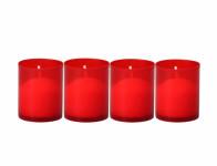 Lampička náhrobná plastová lisovaný vosk 35g 5x6cm 4ks