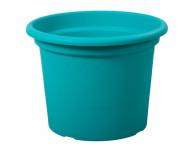 Kvetník GEO plastový modrý 25x19cm