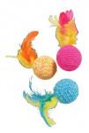 Hračka mačka Elastic Ball mix farieb Zolux