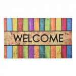 rohož guma+nylon 46x76cm WELCOME barevný dekor