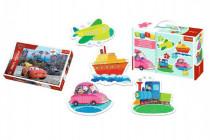 PACK Baby Puzzle Dopravní prostředky + Puzzle 100 dílků