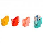 držiak na škatuľové nápoje prelis plastový - mix farieb