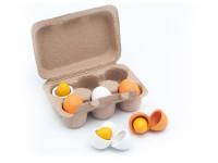 Plato vajíčok - drevená montessori hračka