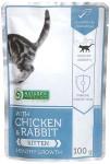 Nature 'Protection Cat kaps. Kitten Chicken & Rabbit 100g