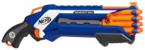 NERF Elite pištoľ strieľa 2 šípky naraz