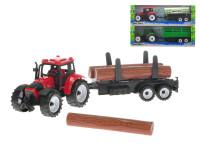 Traktor s vlečkou 28 cm na zotrvačník - mix variantov či farieb