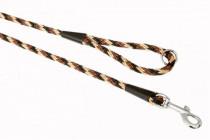 "Vodítko textil lano ""Špirála"" čierno / hnedé B & F 1,40 x 150 cm"