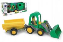 Traktor / Nakladač s vlečkami plast 37cm v krabici Wader - mix variantov či farieb