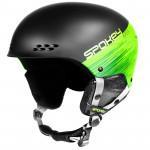 Spokey APEX lyžiarska prilba čierno-zelená, veľ. S / M