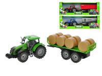 Traktor s vlečkou 1:32 42 cm na zotrvačník - mix variantov či farieb