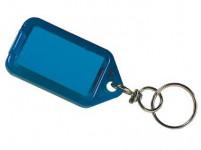visačka na kľúče 5,5x2,9cm plastová, s rozdeľ. (3ks) - mix farieb