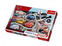 Puzzle + magický fix Auta/Cars Napínavý závod 70 dílků