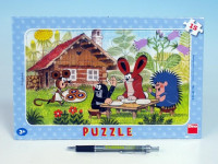 Puzzle doskové Krtko na návšteve 29,5x19cm 15 dielikov