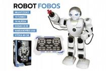 Robot RC FOBOS interaktívne chodiaci plast 40cm na batérie s USB CZ dizajn