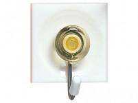 háčik samolepiaci štvorcový 3,7x4,5cm plastový + kov. (3ks) - mix farieb