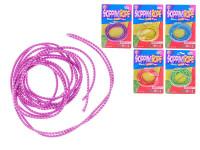 Skákajúci pružné lano 300 cm - mix farieb