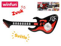 Kytara 54 cm 8 kláves s efekty na baterie se světlem a zvukem