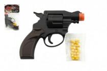 Pištoľ / Revolver na guličky plast 14cm
